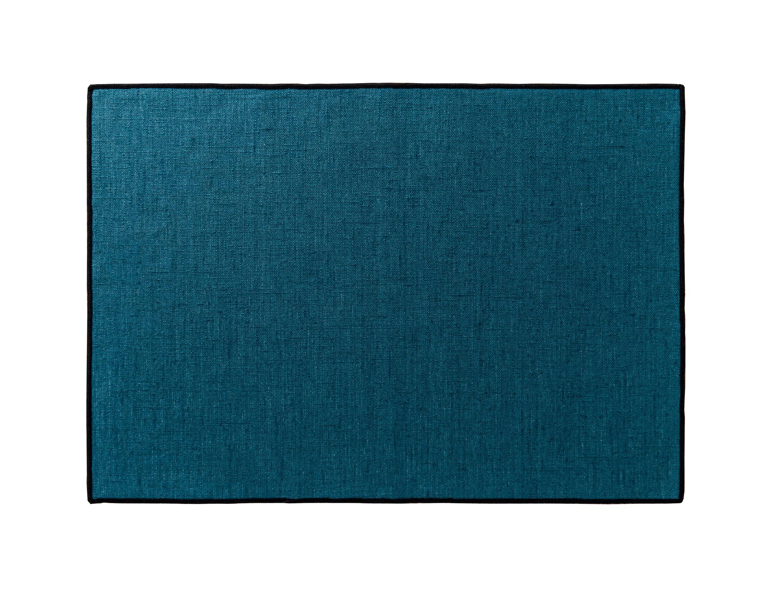 Lot de 4 sets de table bleu en lin 35x48
