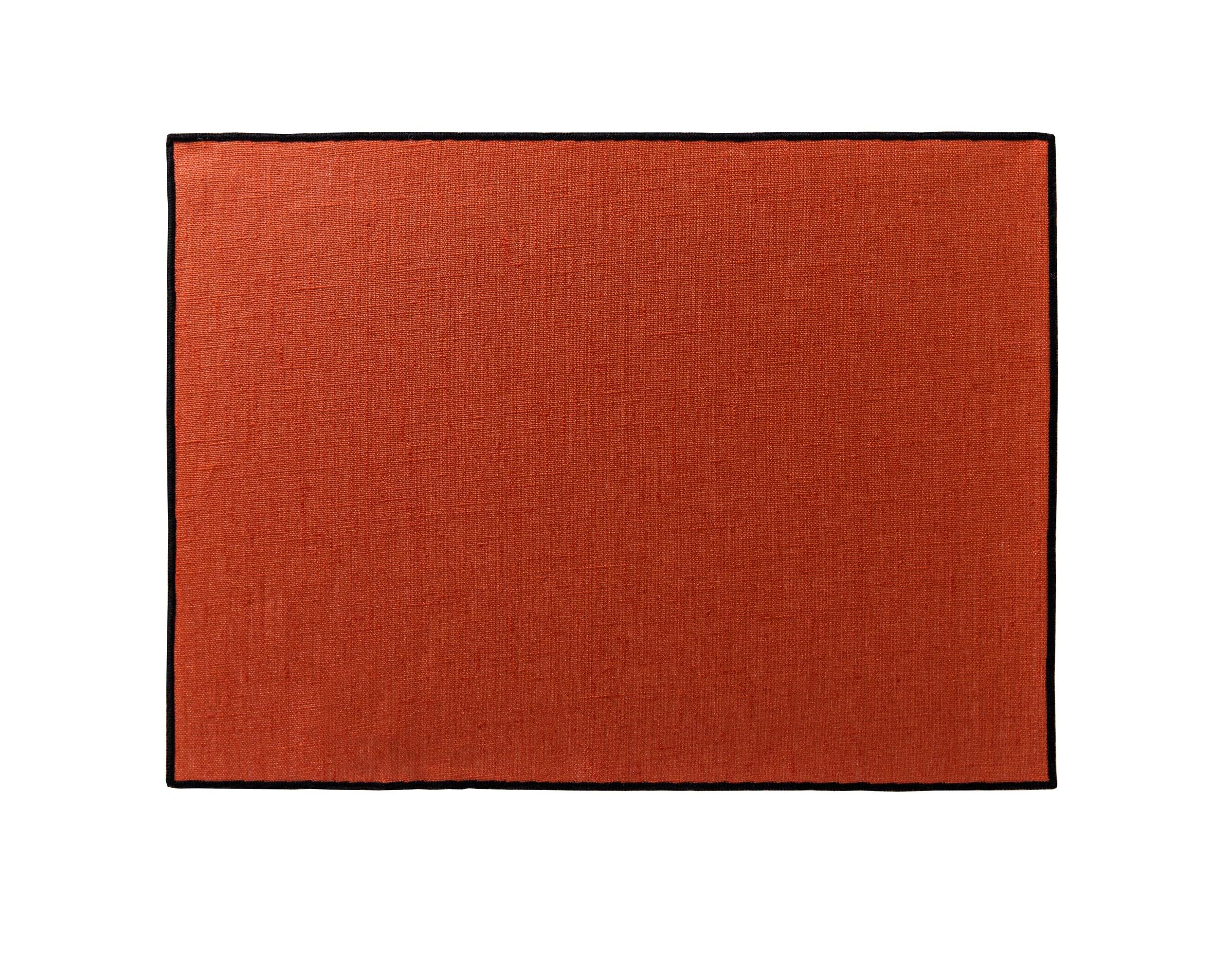 Lot de 4 sets de table orange en lin 35x48
