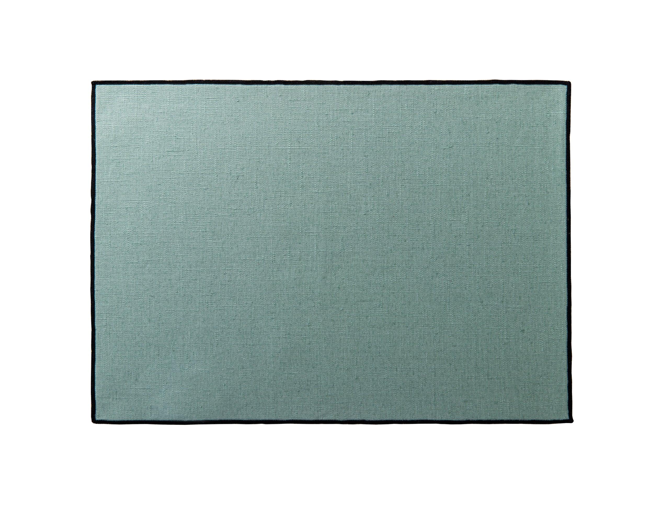 Lot de 4 sets de table vert céladon en lin 35x48