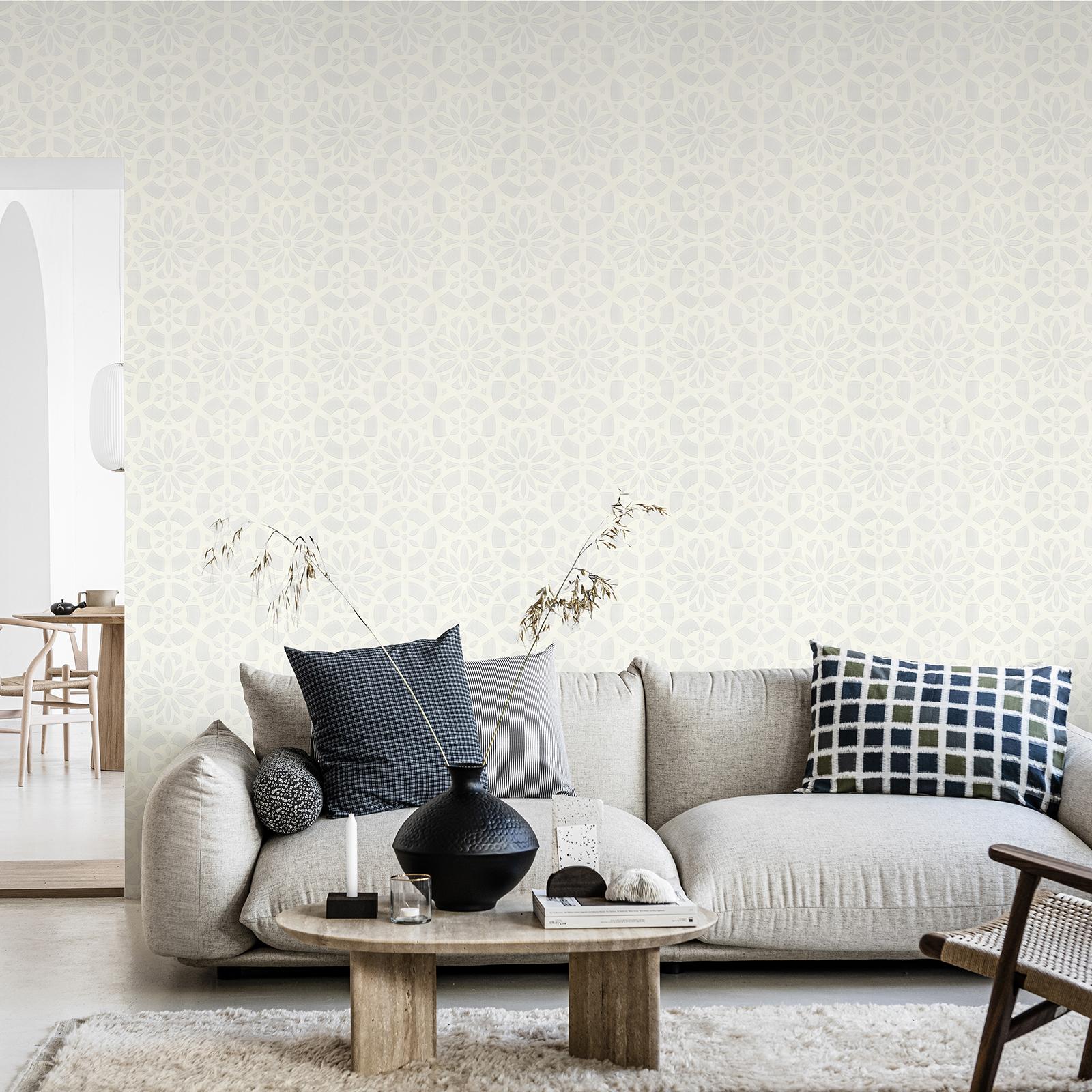 Papier peint intissé cilantro blanc 1005x52cm