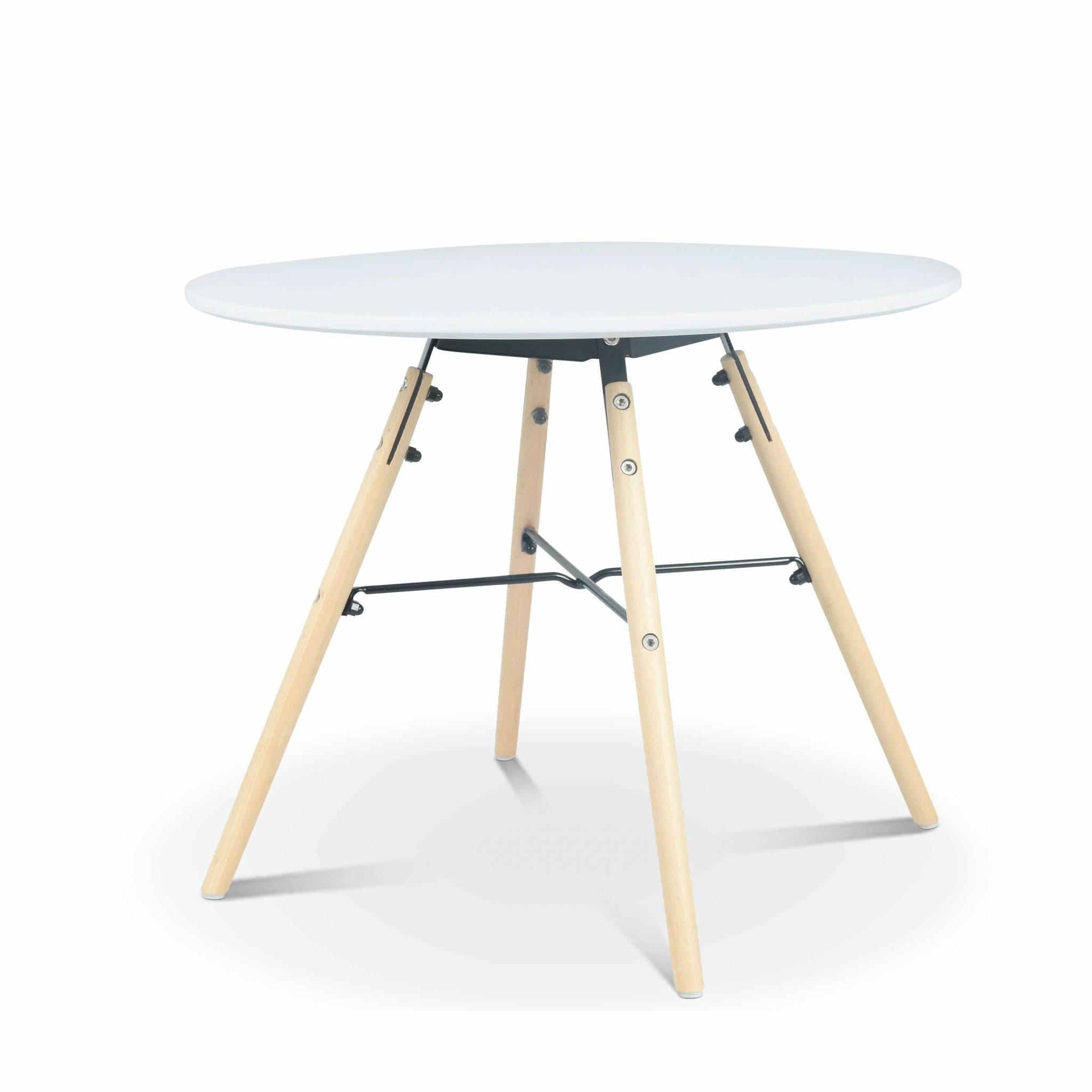 Table ronde blanche pour enfant