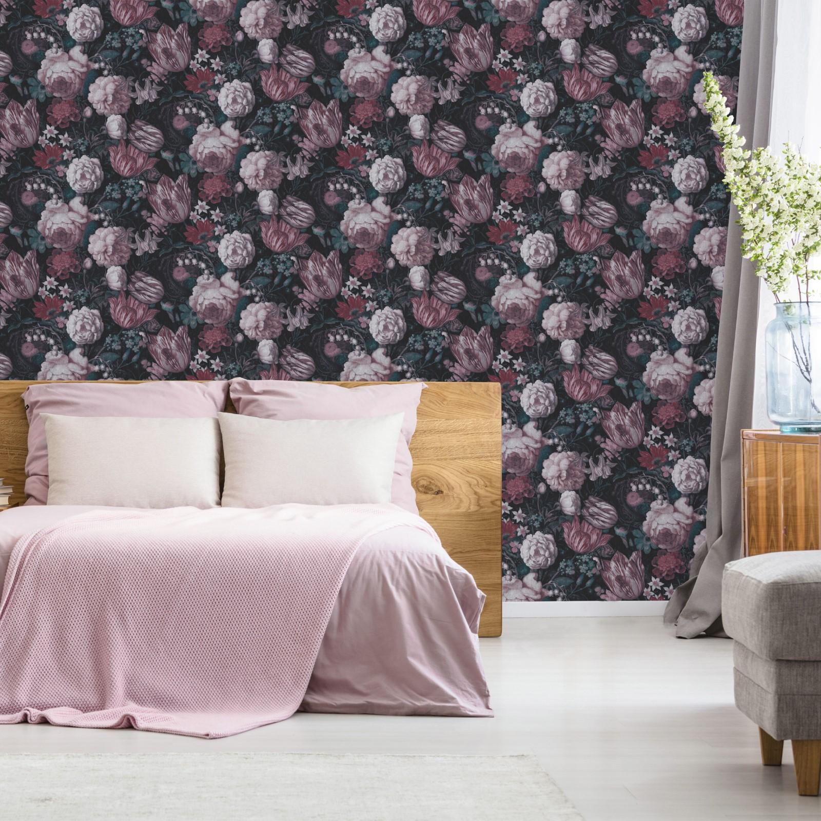 Papier peint intissé floral masters multicolore 1005x52cm