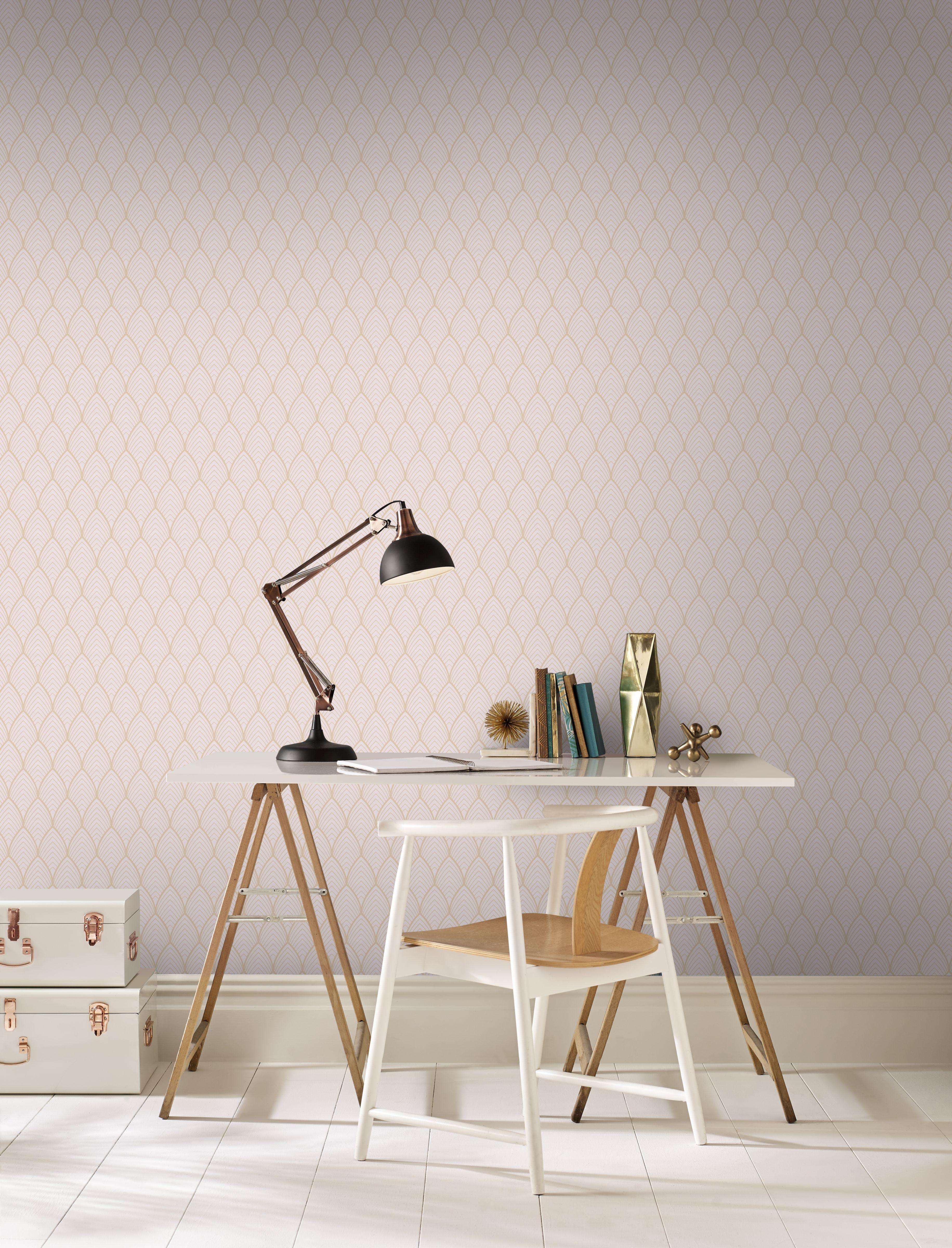 Papier peint intissé Bercy rose 1005x52cm