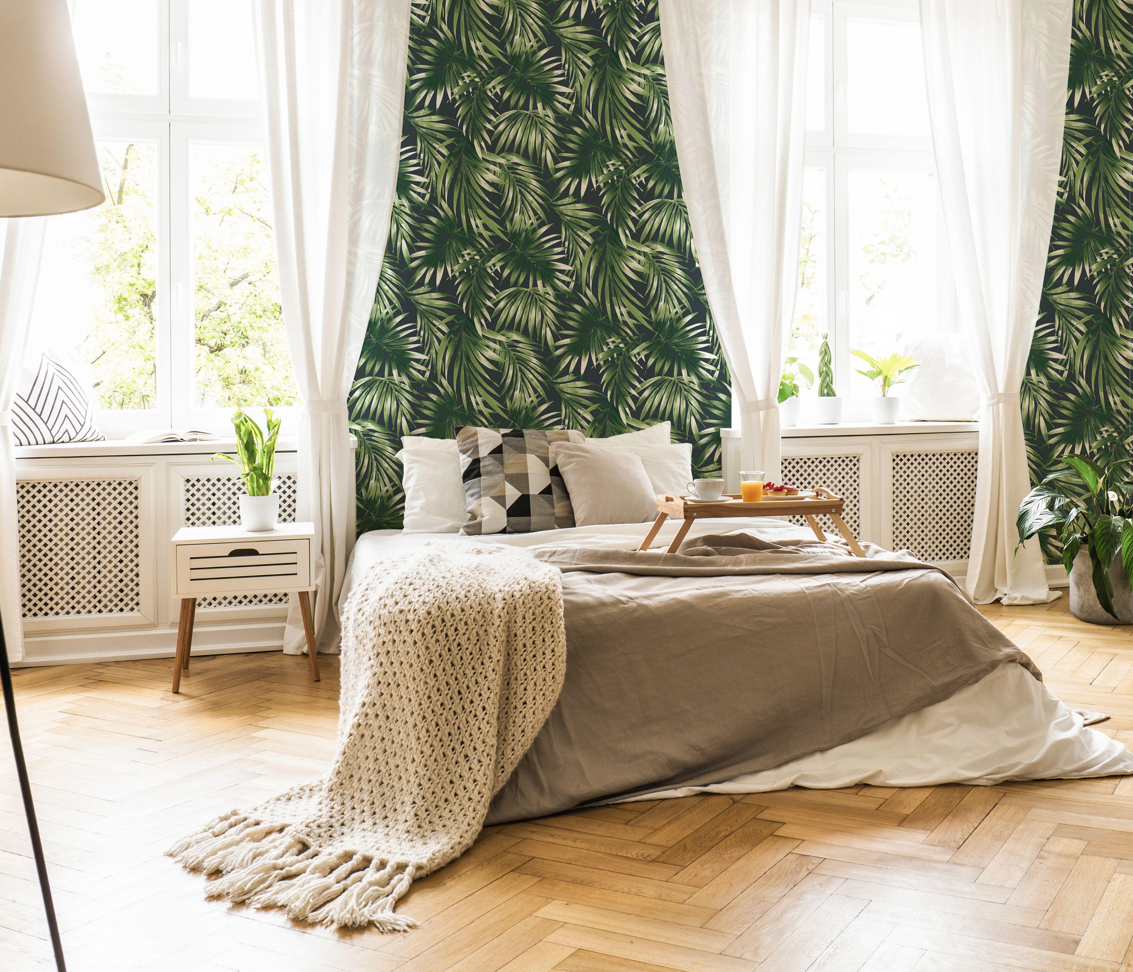 Papier peint intissé élégance feuillage vert 1005x52cm