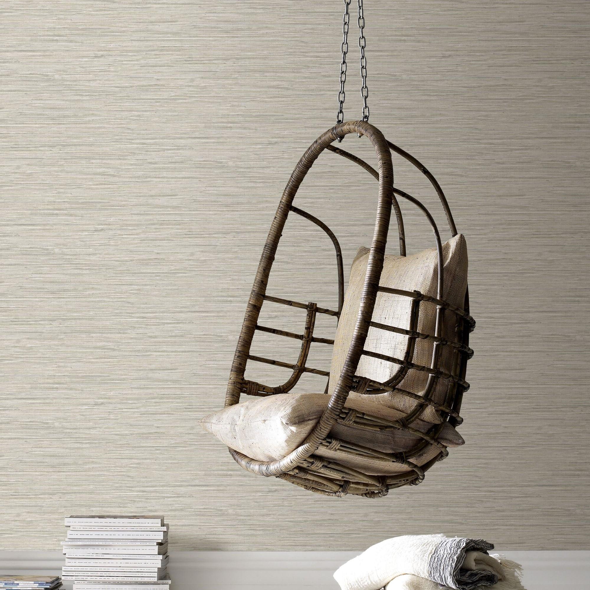 Papier peint fibre textile beige gris 1005x52cm