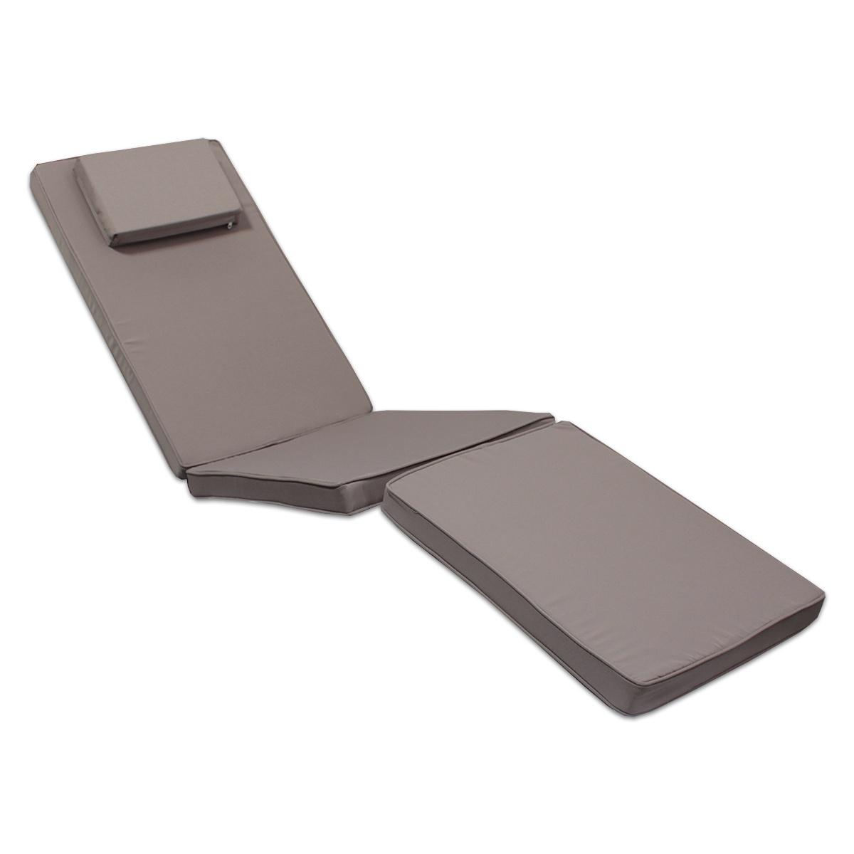 Matelas taupe pour chaise longue