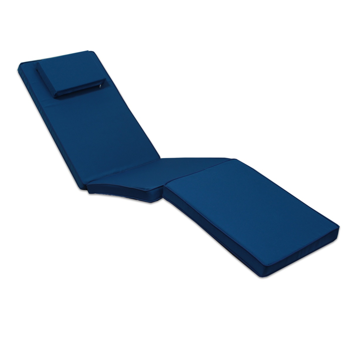 Matelas bleu marine pour chaise longue