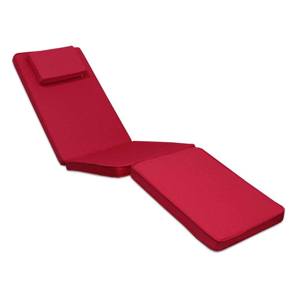 Matelas framboise pour chaise longue