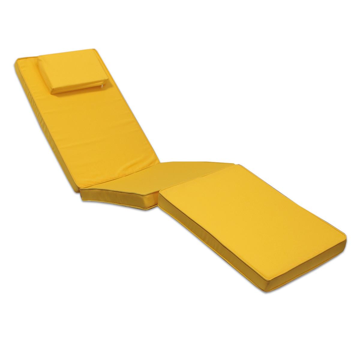 Matelas moutarde pour chaise longue