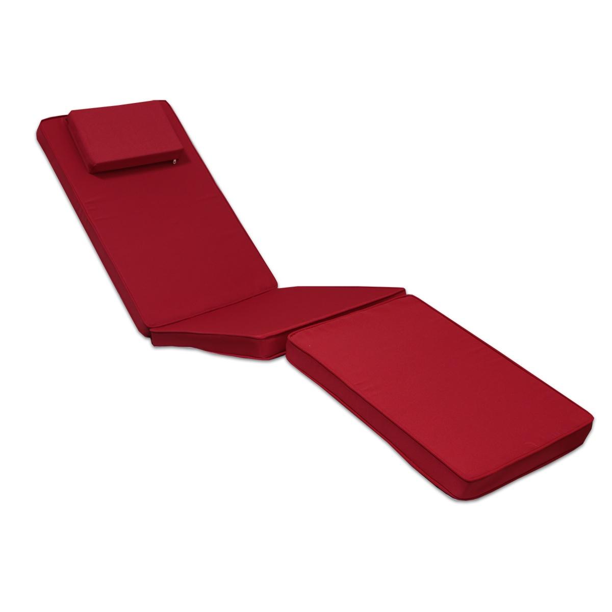 Matelas Rouge pour Chaise longue