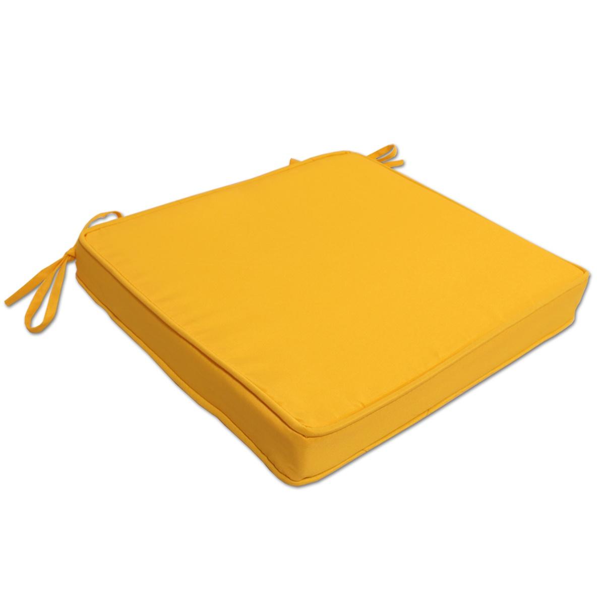 Coussin moutarde pour chaises et fauteuils pliants