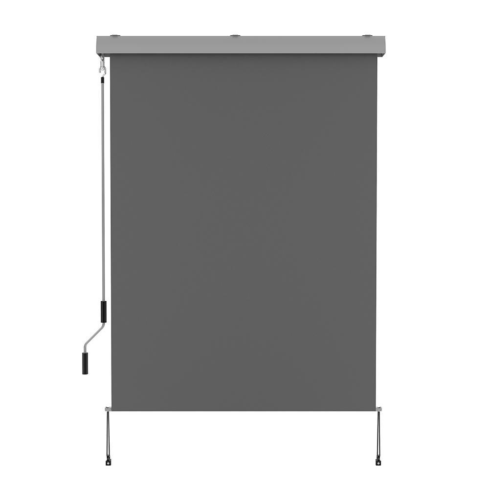 Store enrouleur d'extérieur aluminium gris 120x250cm