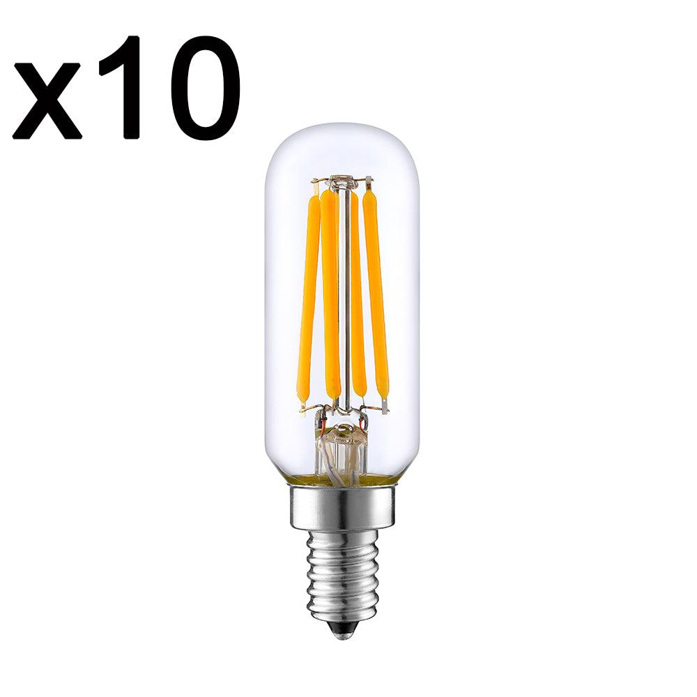 Lot de 10 ampoules LED verre transparent 4W H9 cm