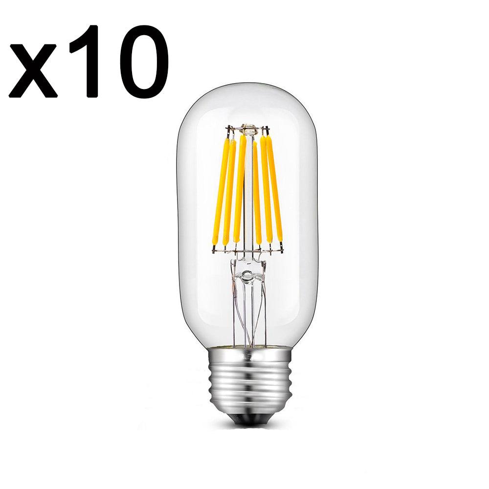 Lot de 10 ampoules LED verre transparent 6w 12 cm