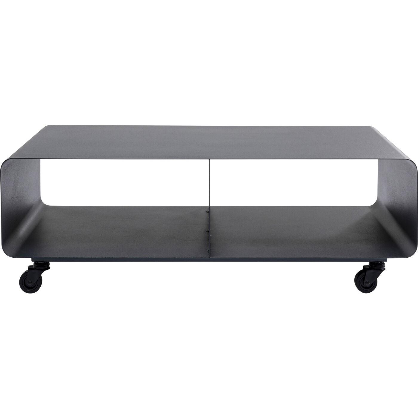 Meuble TV en acier gris anthracite