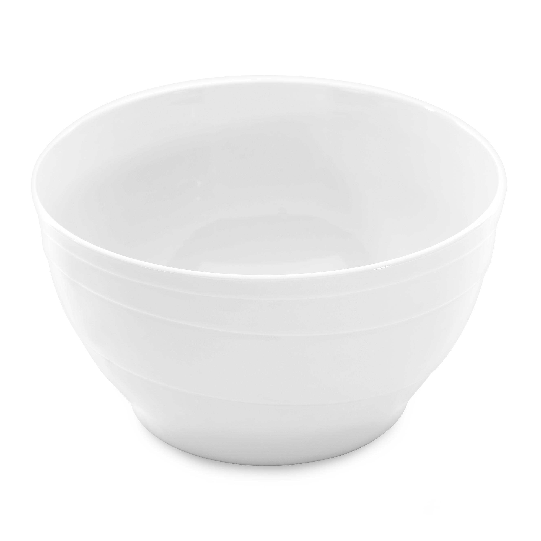 Plat creux blanc en porcelaine
