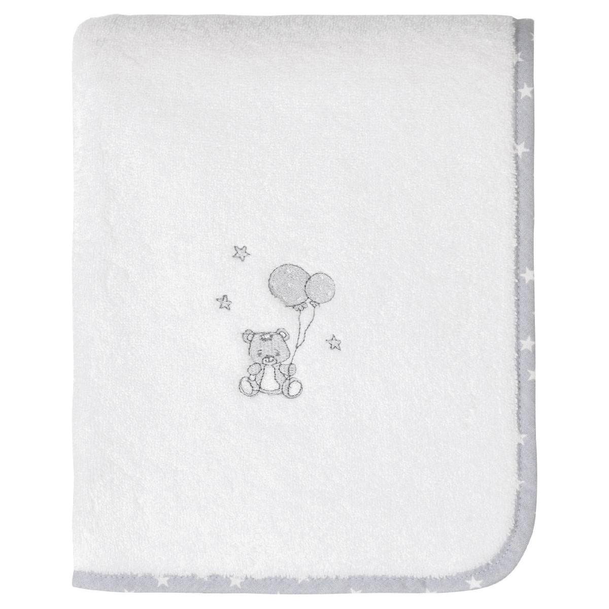 Serviette de toilette enfant coton blanc 50x90
