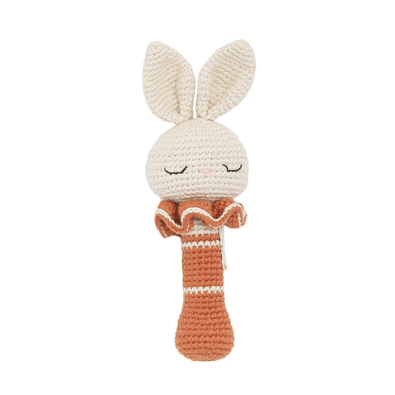 Hochet en crochet lapin