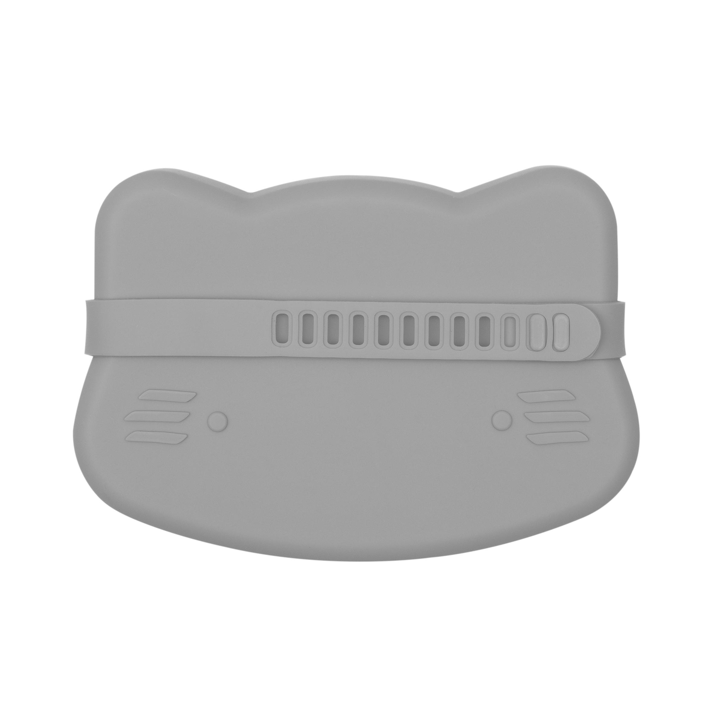 Boîte à goûter en silicone chat