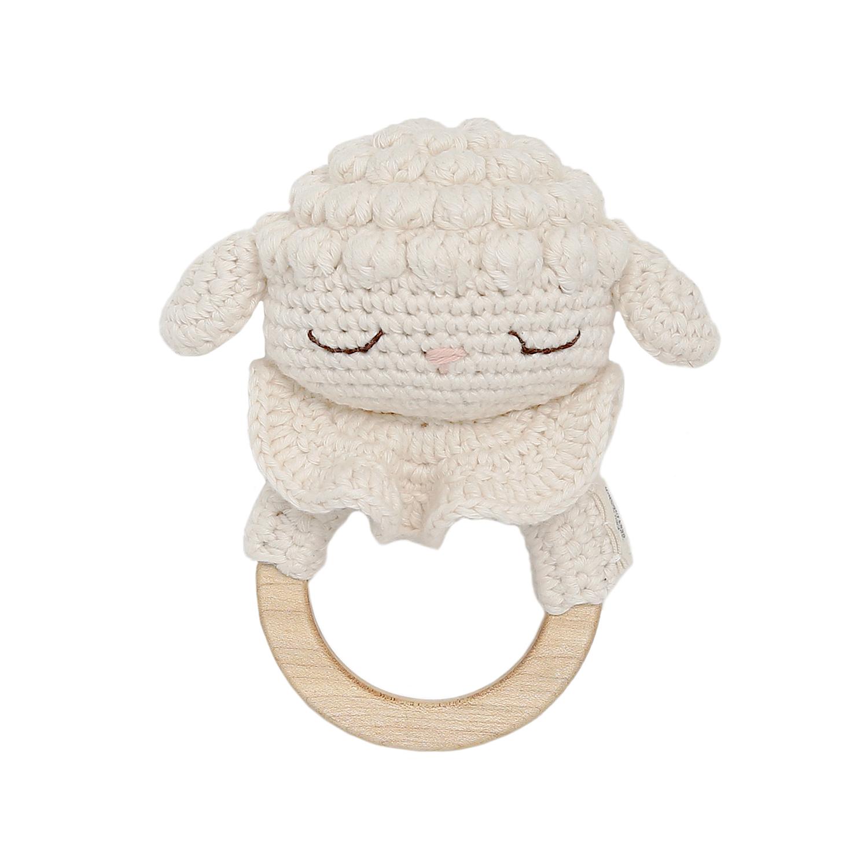 Anneau de dentition en crochet agneau
