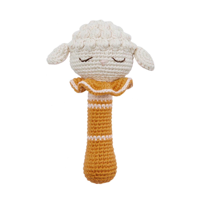 Hochet en crochet agneau