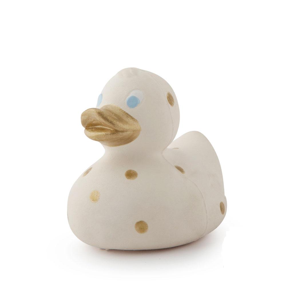 Jouet de bain canard Elvis à pois