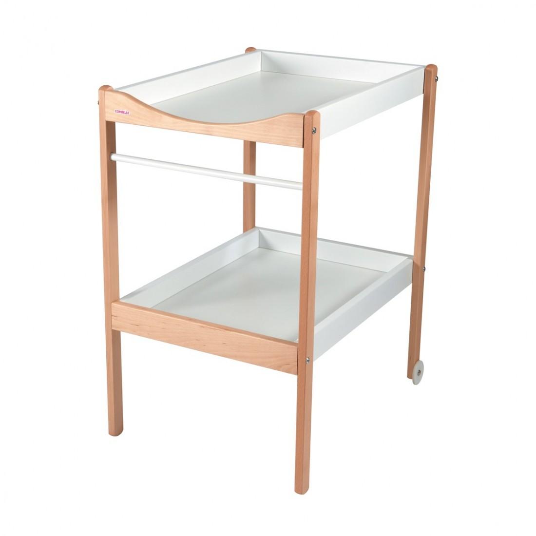 Table à langer  bicolore blanc - 72x90x55 cm