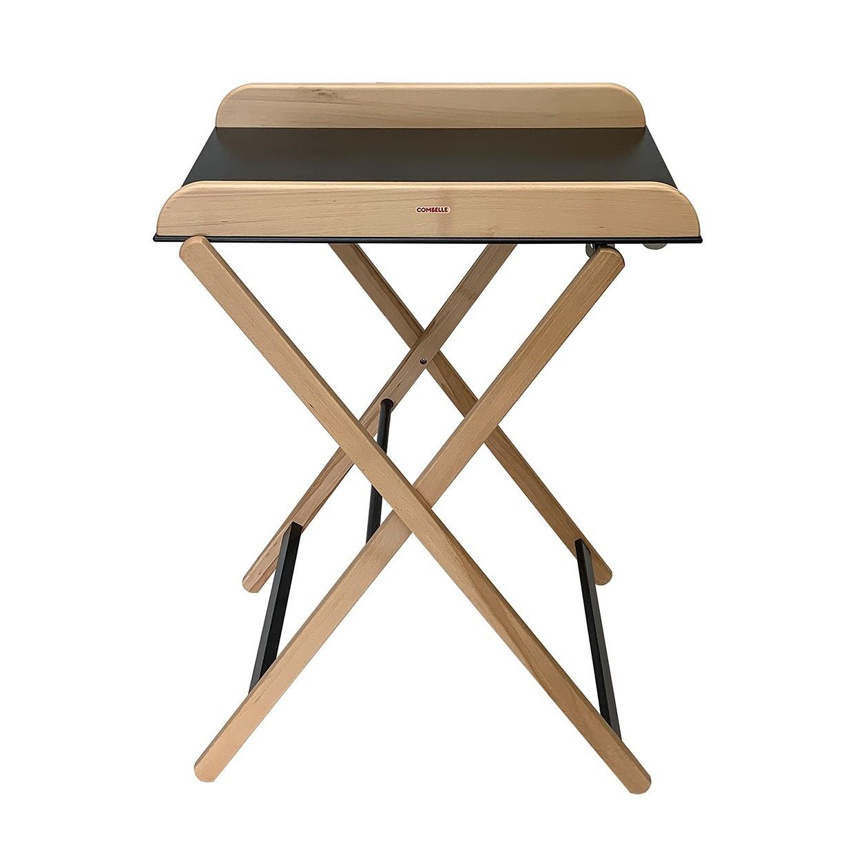 Table à langer  pliante bicolore noir - 82x87x55 cm