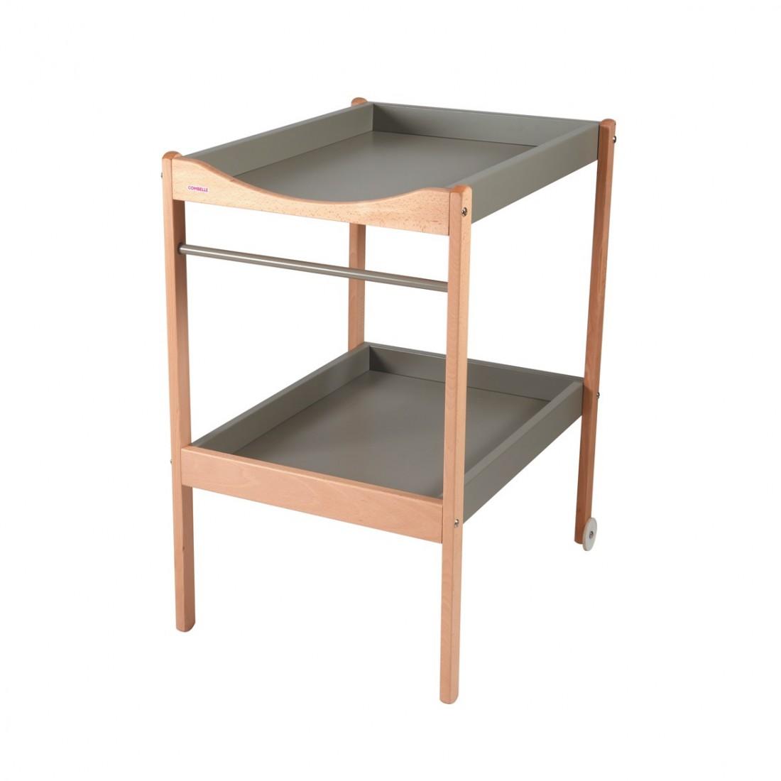 Table à langer  bicolore gris - 72x90x55 cm