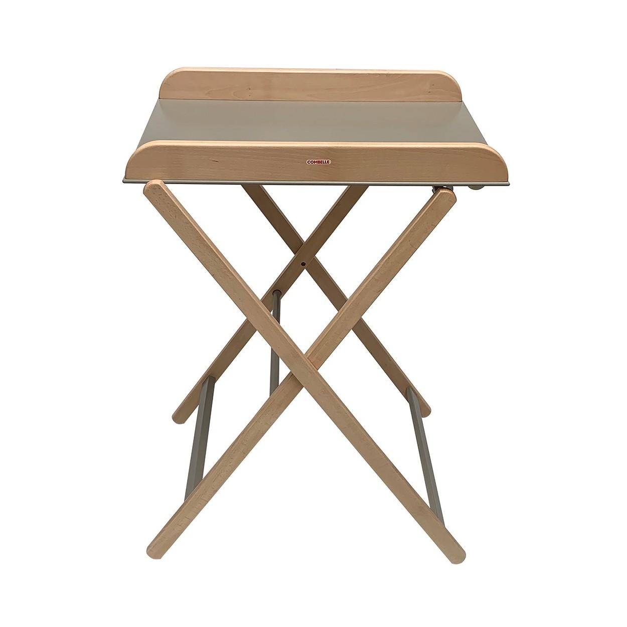 Table à langer  pliante bicolore gris - 82x87x55 cm