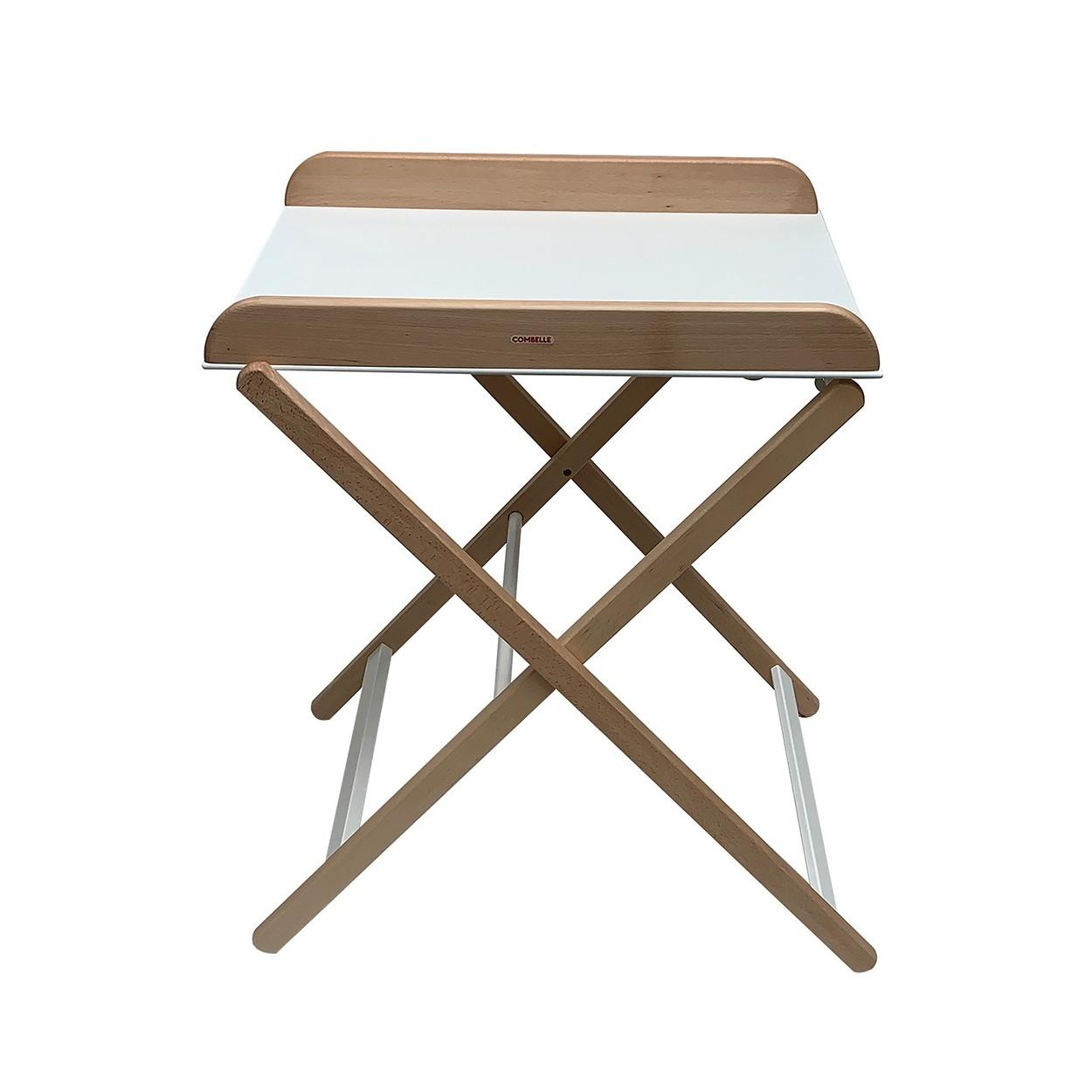 Table à langer  pliante bicolore blanc - 82x87x55 cm