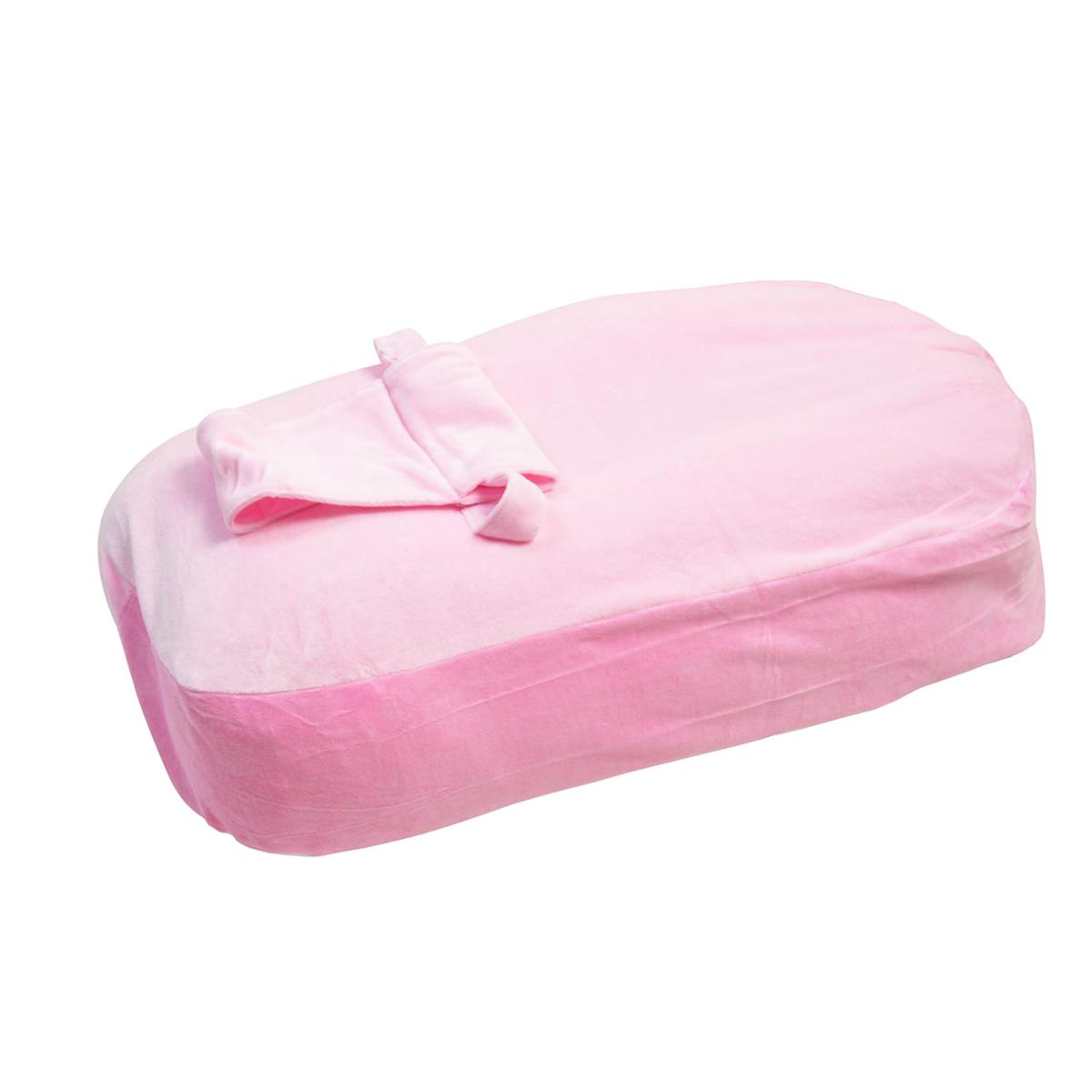 Housse pour coussin d'allaitement rose
