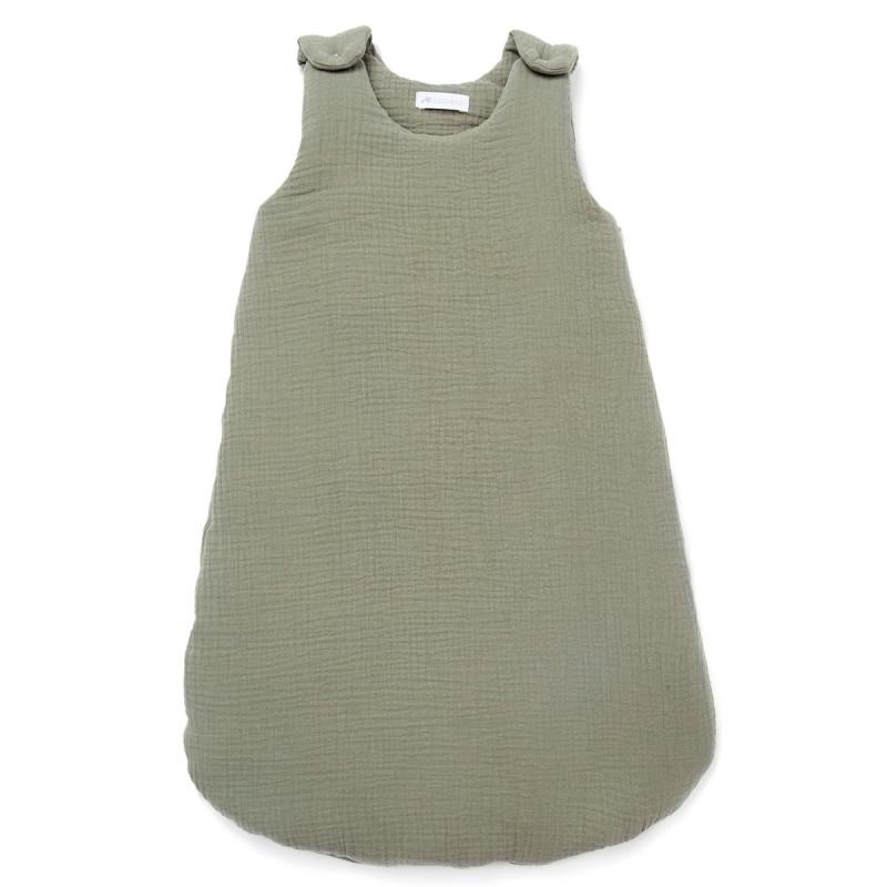 Gigoteuse en gaze de coton vert sauge (0-6 mois)