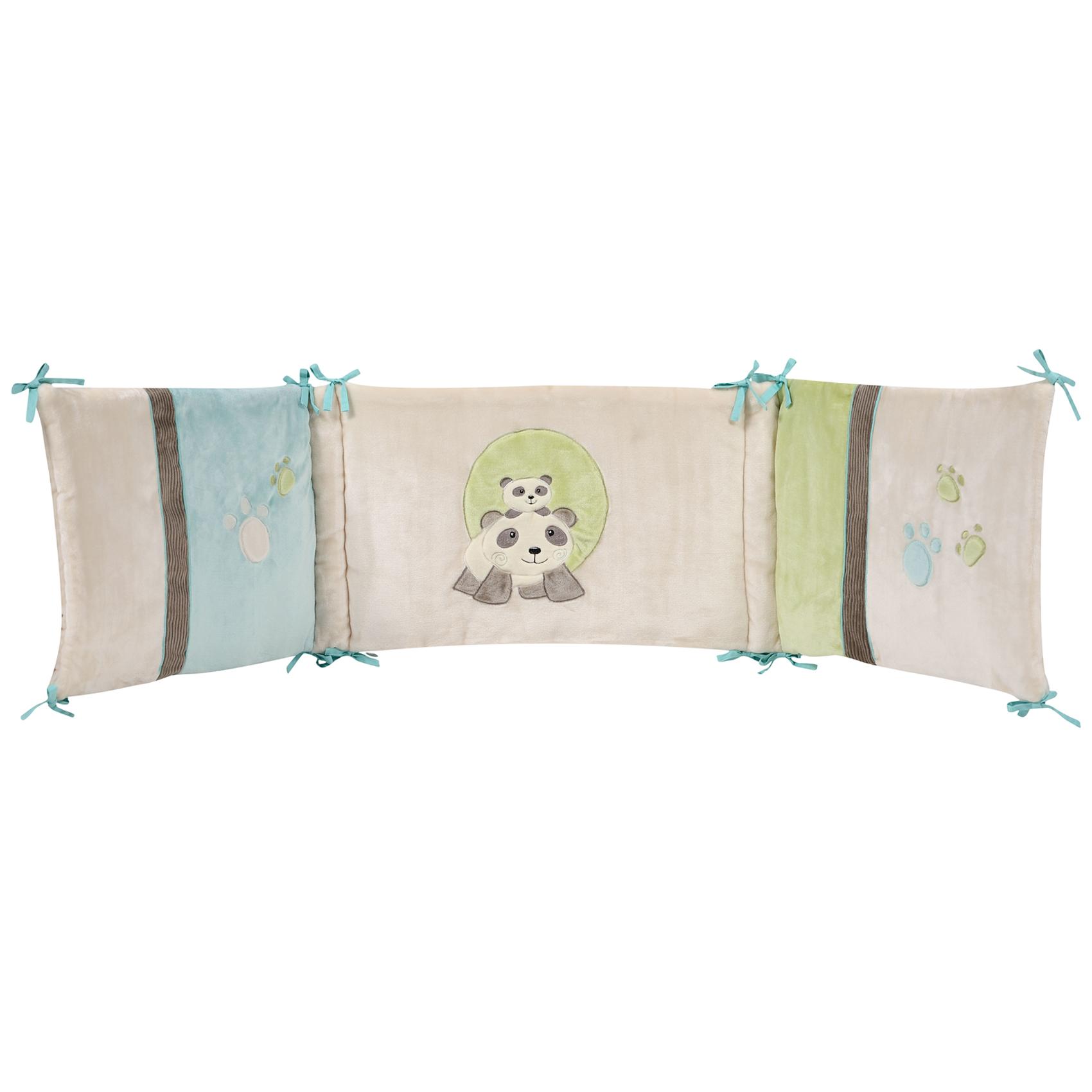 Tour de lit bébé Pandi Panda velours Multicolore 40x180