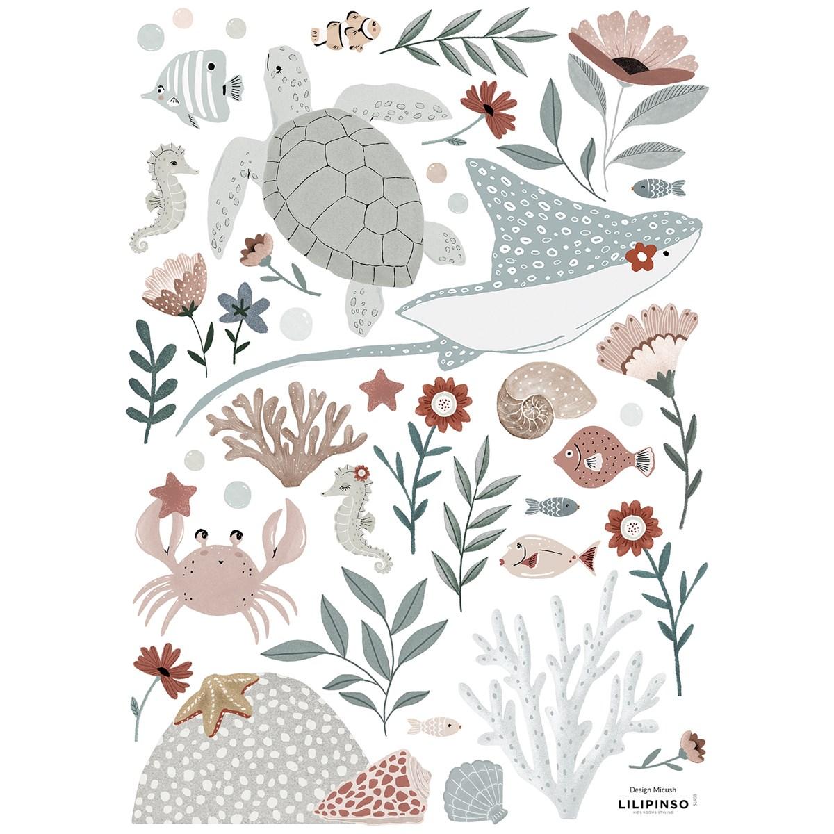 Stickers animaux en Vinyle mat Multicolore
