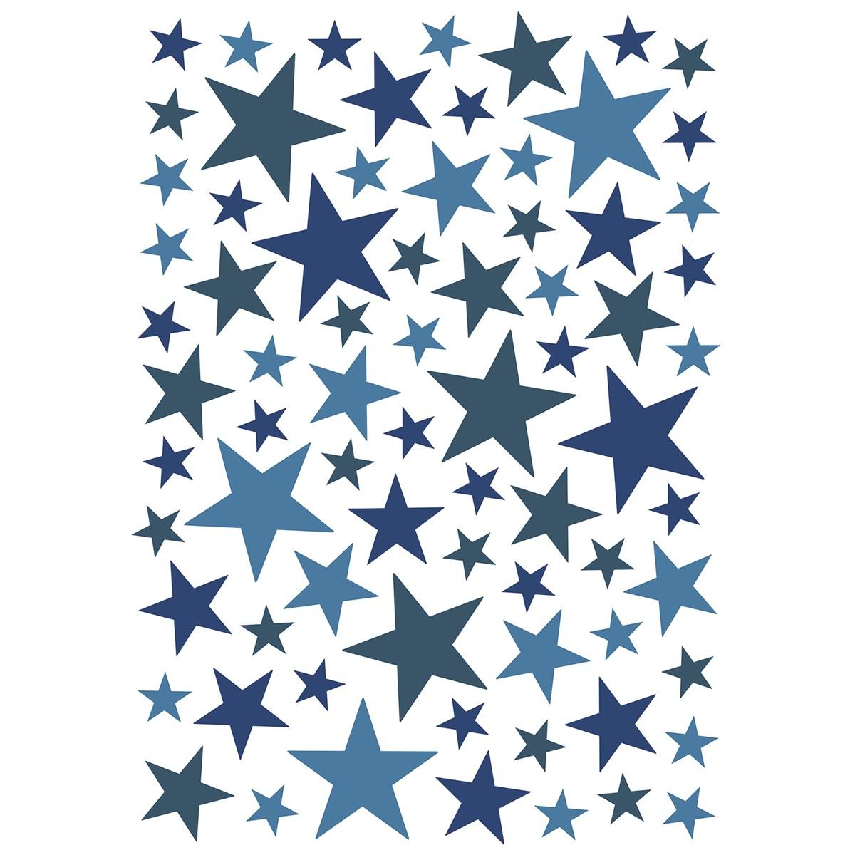 Stickers étoiles en Vinyle mat Bleu électrique