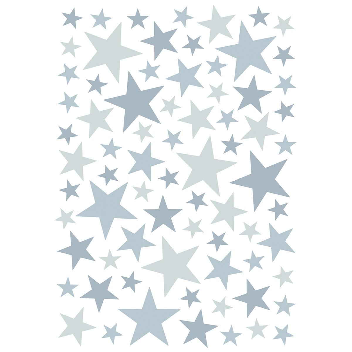 Stickers étoiles en Vinyle mat Bleu clair