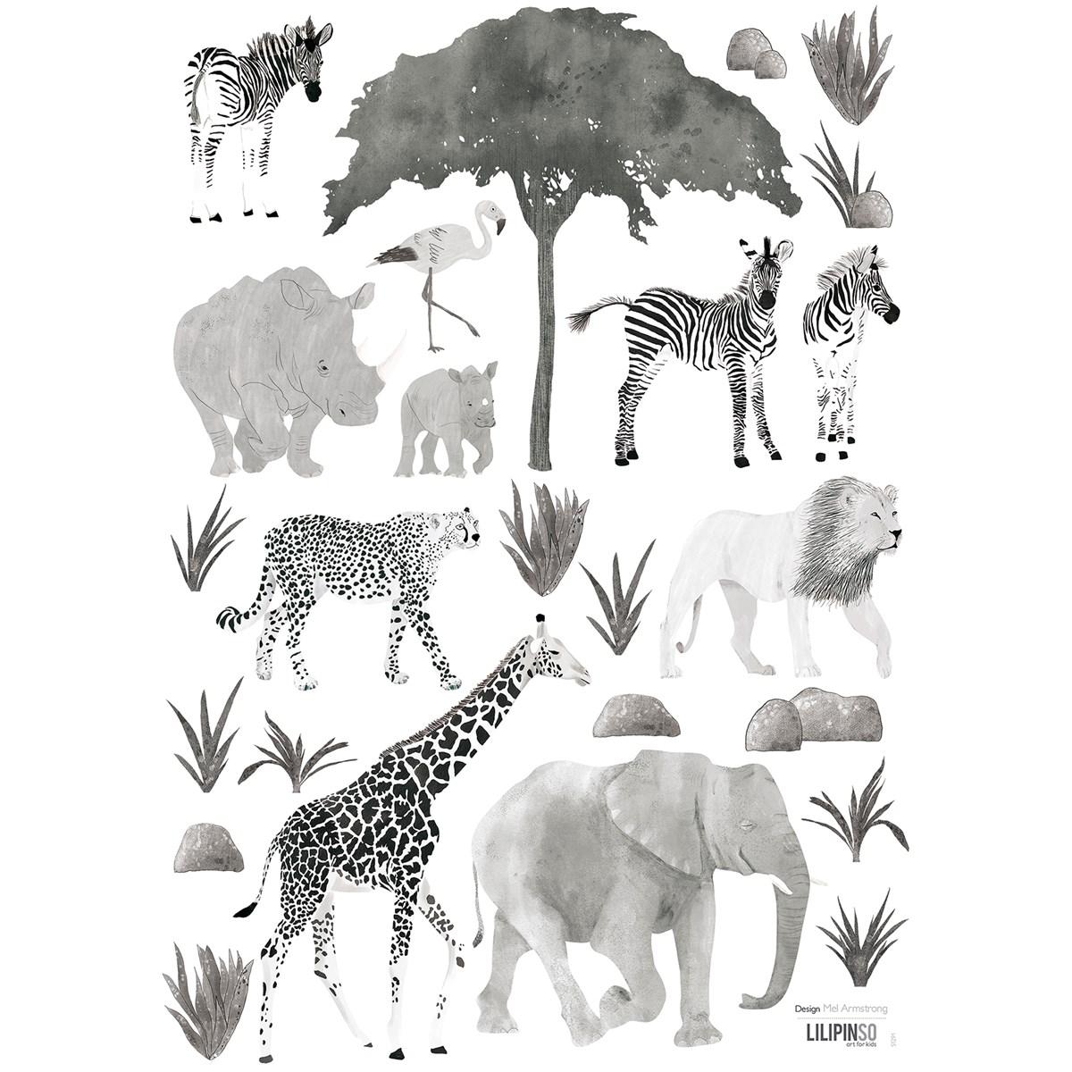 Stickers animaux en Vinyle mat Noir