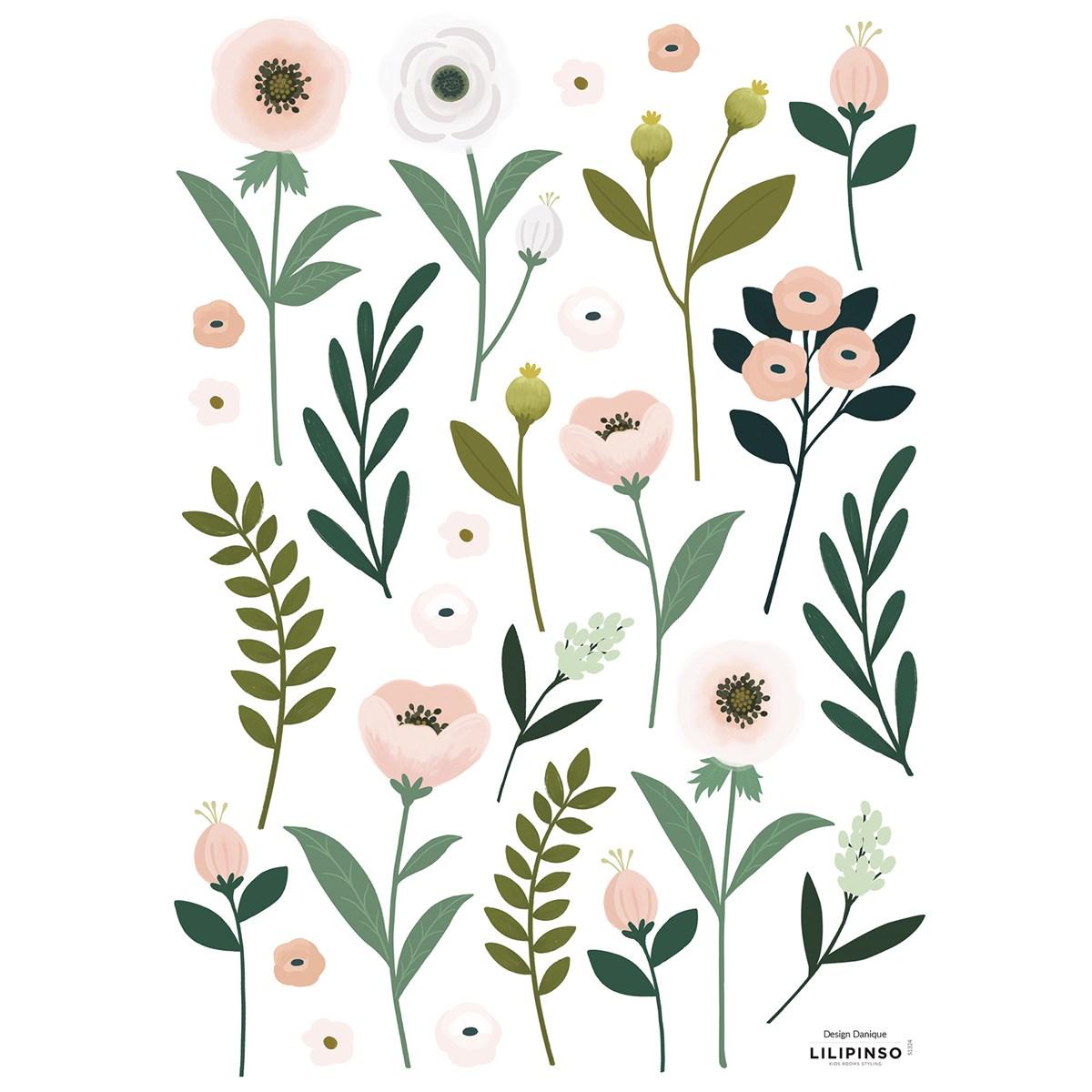 Stickers fleurs en Vinyle mat Rose