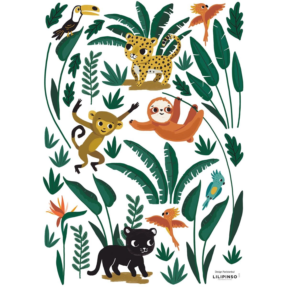 Stickers animaux en Vinyle mat Vert