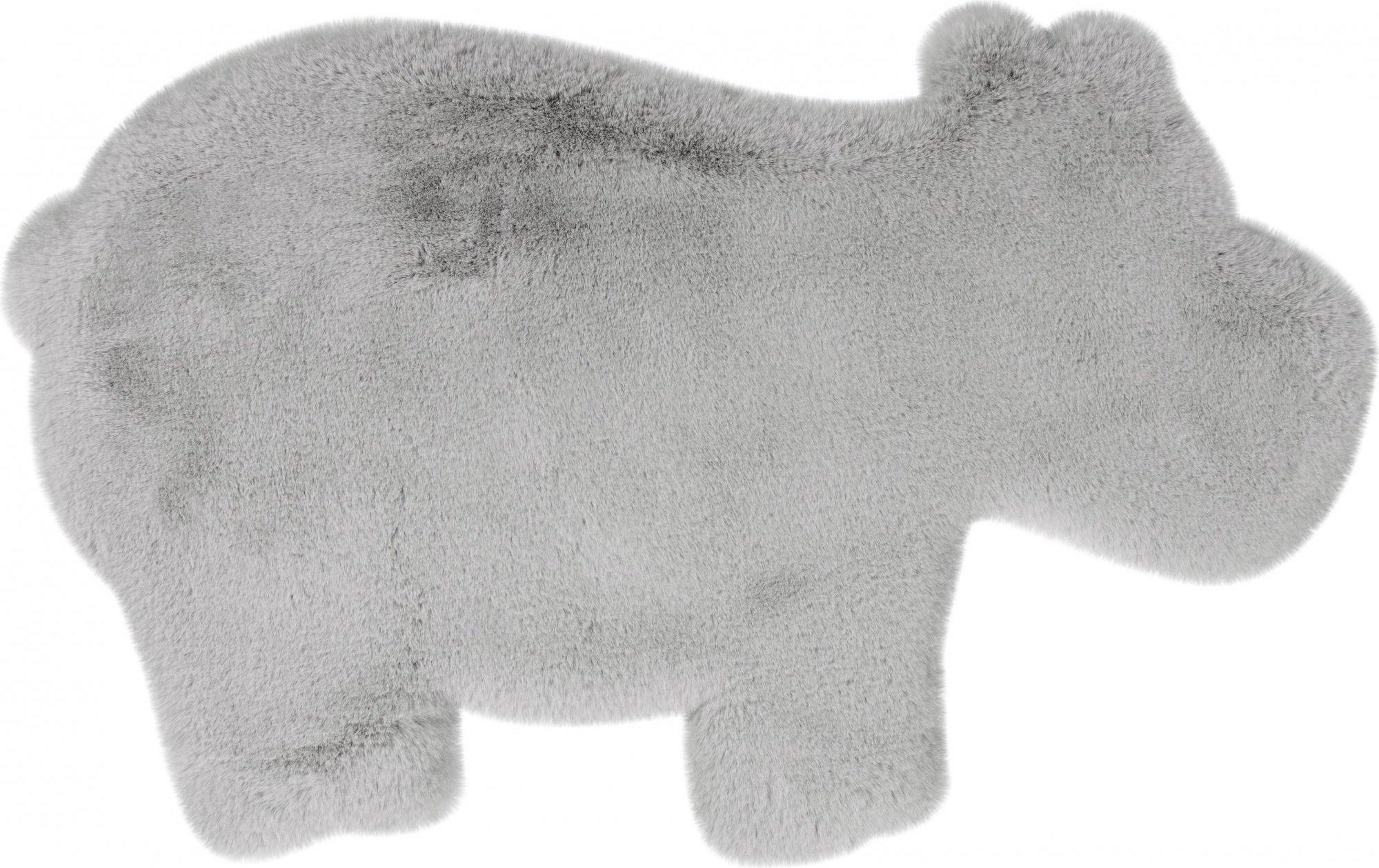 Tapis enfant gris rectangle micropolyester 55x90