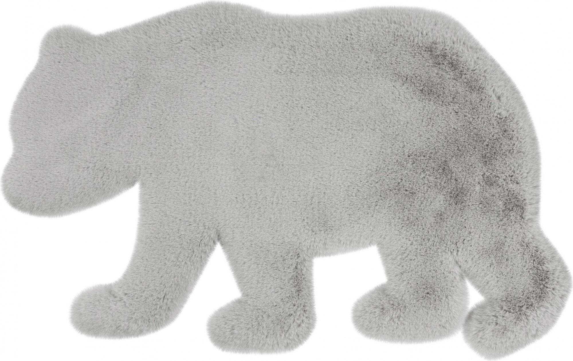 Tapis enfant gris rectangle micropolyester 53x90