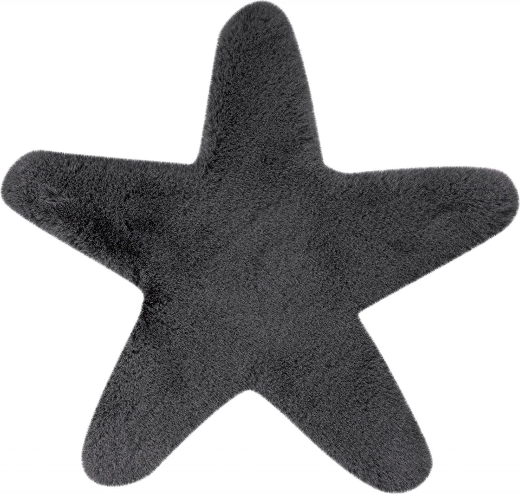 Tapis enfant gris rectangle micropolyester 60x63