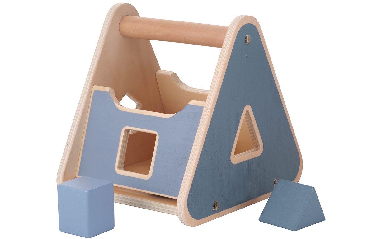 Boîte à formes en bois multicolore