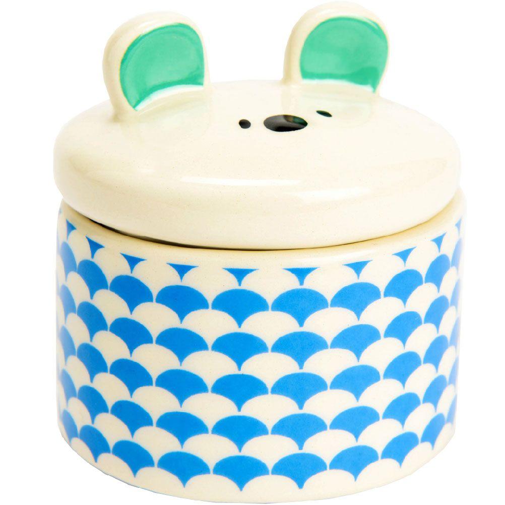 Petite boite à dents de lait blanc et bleu