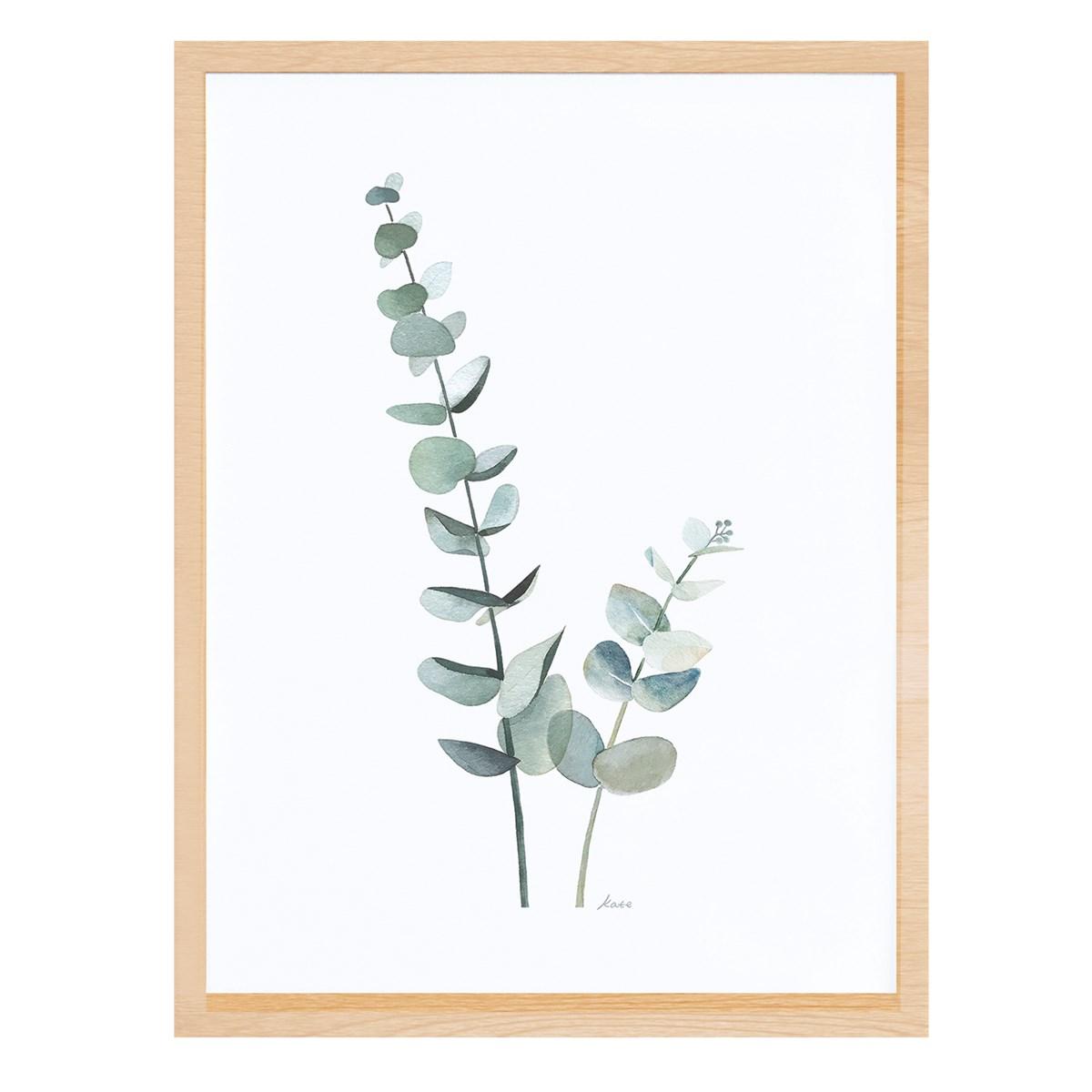 Cadre eucalyptus en Papier Vert