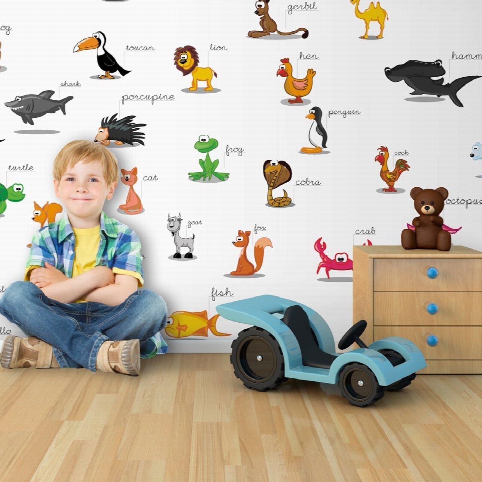 Papier peint enfant animaux pour kids 550x270