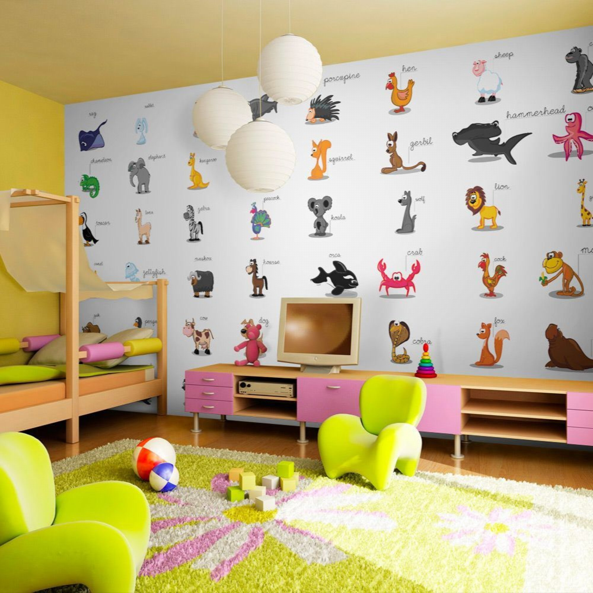 Papier peint enfant learning by playing 550x270
