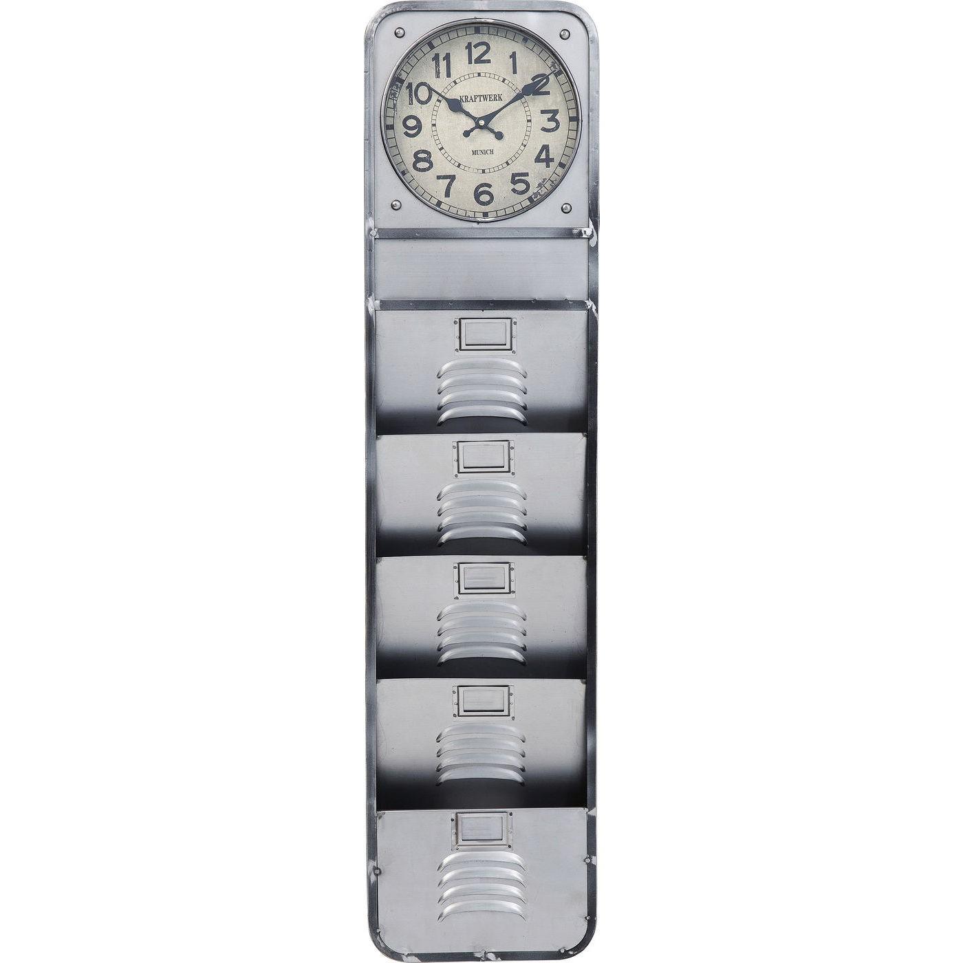 Horloge avec 4 rangements en acier