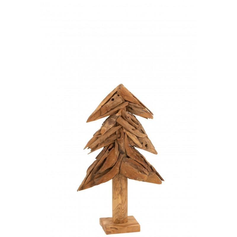 Arbre morceaux de bois teck naturel H80cm
